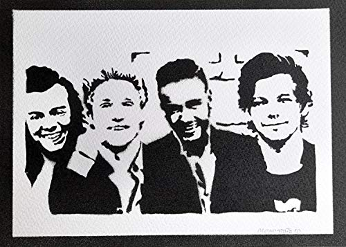Poster One Direction Grafiti Hecho a Mano - Handmade Street Art - Artwork