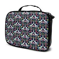 化粧ポーチ ダラ馬 メイクポーチ 機能的 大容量 化粧品収納 小物入れ 普段使い 出張 旅行 メイク ブラシ バッグ