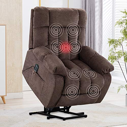 CANMOV Power Lift Recliner Chair with Heat Vibration Massage...