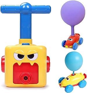 AM ANNA Balloon Powered Car Inertial Power Car Creative Inflatable Balloon Pump Air Powred Car Scientific Experiment Toy -...