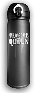 Qiop Nee Insulated Vacuum 17oz Stainless Steel Water Mug Mahjong Queen for Hiking