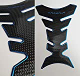 Tankpad Protection de réservoir moto aspect carbone bleu noir universel
