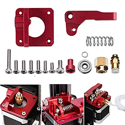 Creality Dual-Gear Upgrade MK8 Bowden Extruder Feeder Assembly for Ender 3/3Pro/3X, Ender 5/5 Plus/Pro, CR10, CR-10S, CR10 S4/S5, Prusa 3D Printer 1.75mm Filament (Right Direction)