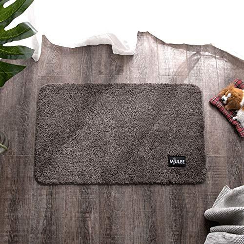MIULEE Dekorative Teppiche Saugfähige weicher Rechteck mit hoher Hydroskopizität Modern Teppich für Wohnzimmer Schlafzimmer 50 X 80cm Braun