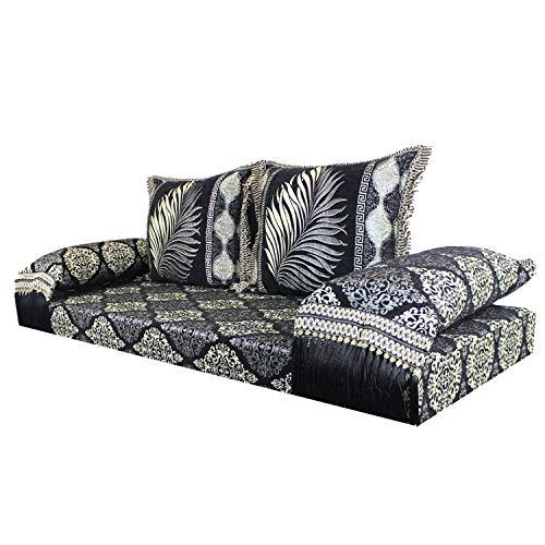 Orientalisches Sofa marokkanische Sitzcouch | Inklusive Füllung mit Rücken- & Lehnenkissen | Das Orginal aus Marrakesch | Arabische Sitzgruppe Sitzecke Sitzkissen Sark Kösesi | Sitzgarnitur Ankara