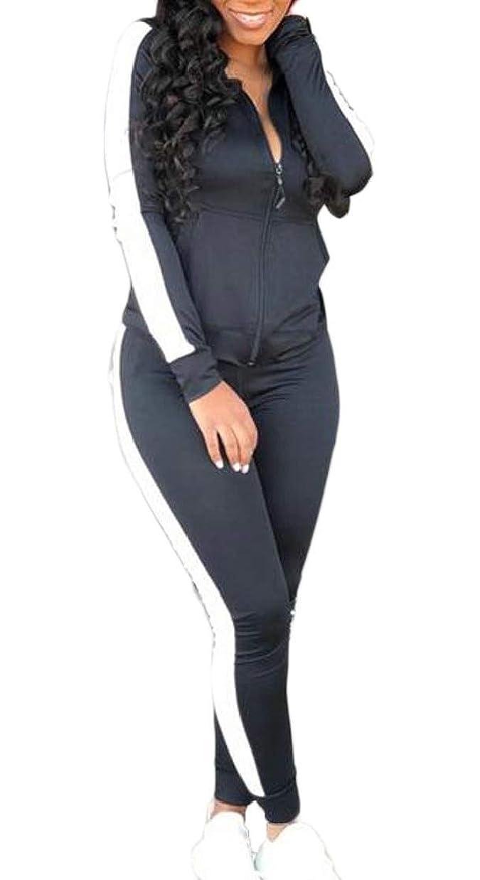 甲虫転倒大陸女性の2ピーストラックスーツセットジャンプスーツジャケットスウェットパンツジョガーセット