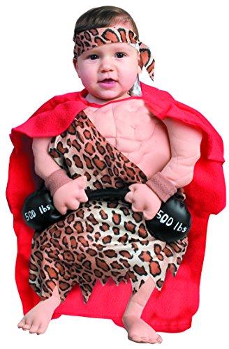 Forum Novelties Baby Boy's Mini Muscle Man Bunting Costume, Multi, Newborn