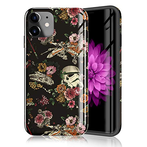 ZQ-Link Compatible with iPhone 11 Case 2019, Raised Edges Scratch Resistant Lightweight Flexible Soft TPU Floral Pattern Protective Phone Cover for iPhone 11 - Star Wars