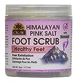 OKAY Himalayan Pink Salt with Seaweed Foot Scrub, 6 Ounce