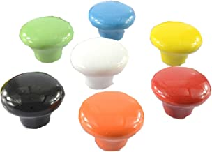 Set of 7 32mm Colorful Ceramic Cabinet Knob Drawer Pull Handle (7 Color)