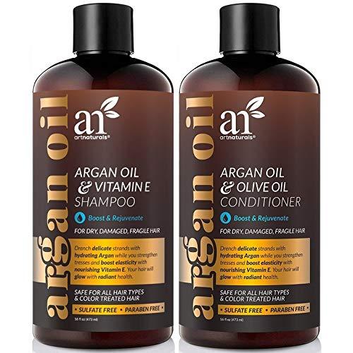ArtNaturals Marokkanisches Arganöl Haarausfall Shampoo & Conditioner Set – 2 x 473 ml – Sulfatfrei – Behandlung bei Haarausfall, dünner werdendes Haar & Haarwachstum, Männer & Frauen