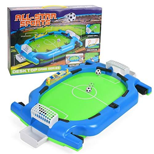 Ahagut Mini Juego de fútbol de Mesa de Escritorio Mini Juguete de fútbol de Mesa futbolín Juguete Interactivo para niños