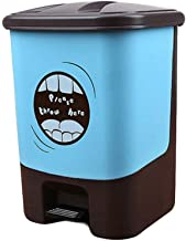 Pedal Plastic Trash Can,Recycle Bin Dustbin Garbage Container Bin for Bathrooms, Kitchens, Home Resistant Waste Bin (Color...