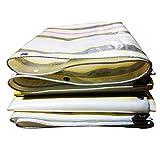 Lona CUIYXLona Impermeable 220 g / m2 Resistente a la Lluvia Protector Solar Espesante Resistente al Desgaste Resistencia a la tracción Color-jardín de Franjas (Size : 4.8x7.8m)