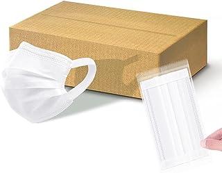 マスク 個包装 耳痛くならない 不織布 三層構造 使い捨て プリーツ型マスク
