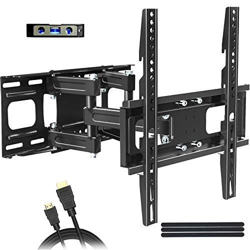 Full Motion TV Wall Mount Bracket for Most 32'-65' TVs JUSTSTONE TV Wall Mount with Articulating...