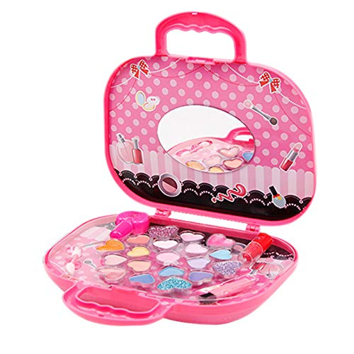 23 PCS Schminkkoffer Mädchen Kinder Schminkset Kinderkosmetik Kit Frozen Kosmetikkoffer für...