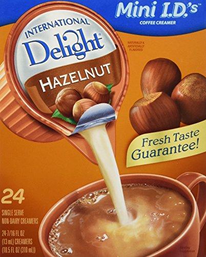International Delight non-dairy Hazelnut, 24Count .44oz, single-serve Coffee Creamers by International Delight