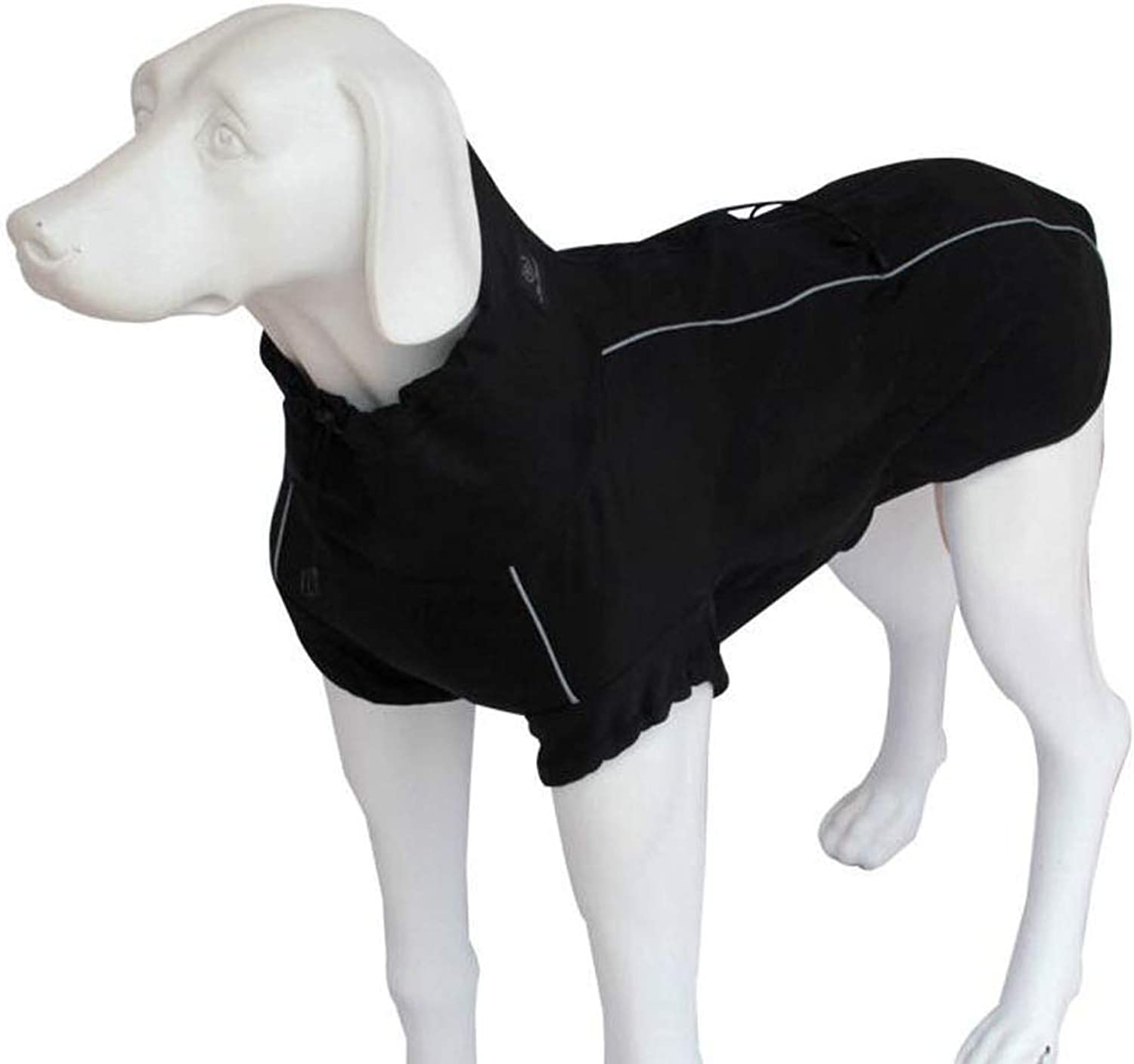Big Dog Waterproof Suit, Large and Medium golden Retriever, Autumn and Winter Clothing (color   Black, Size   XS)