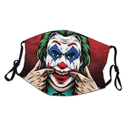 Mascarilla facial reutilizable lavable, Joker Happy Face transpirable, protección contra la contaminación camuflaje