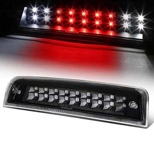 Black Housing Dual Row LED 3rd Third Tail Brake Light Reverse Lamp Replacement for Ram 1500 2500 3500 DS/DJ 09-10