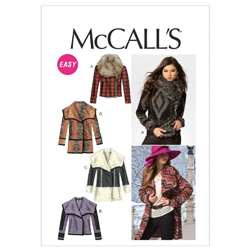 McCall Patterns M6656 Misses' Unlined Jackets and Coats Sewing Template, Size ZZ (LRG-XLG-XXL)