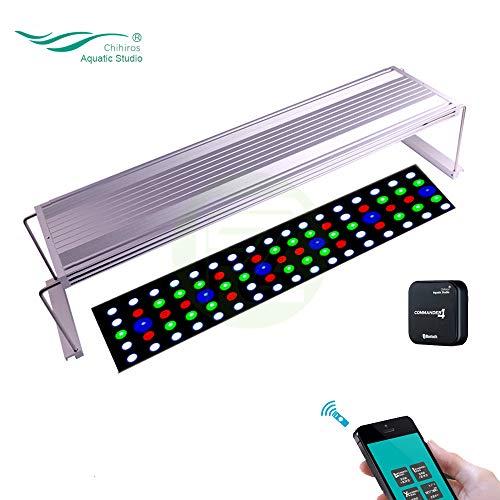 CHIHIROS WRGB 90 LED Iluminación para Acuario Plantas Acuáticas Lámpara De Luz con Commander 4 Controlador