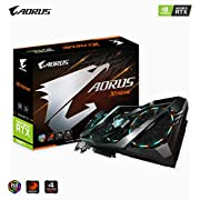Gigabyte AORUS GeForce RTX 2080 Ti Xtreme 11G Graphics Card, 3X Stacked Windforce Fans, 11GB 352-bit GDDR6, Gv-N208TAORUS X -11GC Video Card