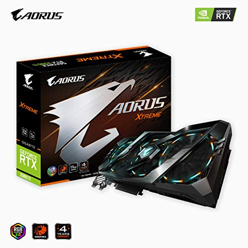 Gigabyte AORUS GeForce RTX 2080 Ti Xtreme 11G Graphics Card, 3X Stacked...
