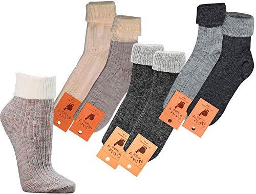 socksPur SOCKS PUR Umschlag-Socken mit Alpakawolle, (39-42, anthrazit-anthrazit) 2er PACK