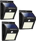 Luz Solar Exterior, iPosible 270 °Iluminación Foco Solar con Sensor de Movimiento Impermeable 3 Modos Lámpara Solar para Jardín Camino