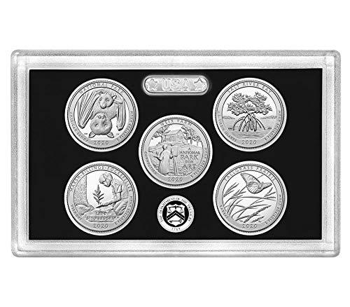 2020 S Silver Proof National Park Quarter 5 Coin Set No Box or COA Proof Coin Box Coa No Coins