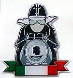 3D Doming Aufkleber T-Rider Italien