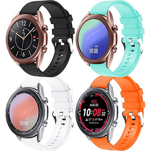20mm Armband Kompatibel mit Galaxy Watch Active/Active 2 40mm 44mm/Galaxy Watch 3 41mm Armband Uhrenarmband Silikon Sportarmband für Galaxy Watch 42mm/Gear Sport/Gear S2 Classic/Huawei Watch 2