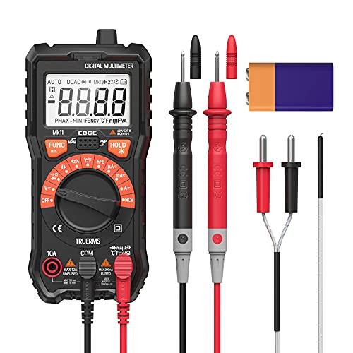 Multímetro Digital 2000 Cuentas Pinza Amperimetrica Multi Tester AC/DC Resistencia Capacidad NCV-116 de Frecuencia de Prueba Prueba Medición de Temperatura Trasero Lluminación Pantalla LCD