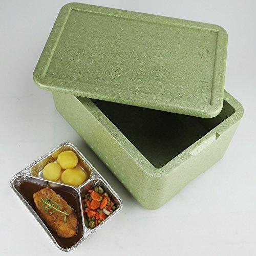 W8 Thermobox ✔ Styropor grün ✔ Transportbehälter ✔ MENÜBOX für 8 Menü