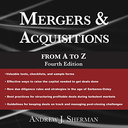 Page de couverture de Mergers & Acquisitions from A to Z, Fourth Edition