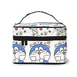Bolsa de maquillaje, bonita bolsa de viaje portátil Doraemon bolsa grande de malla B organizador de artículos de tocador para mujeres y niñas