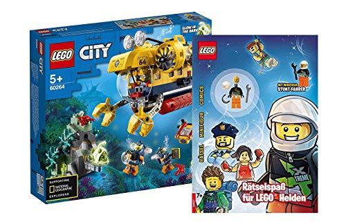 Collectix Lego - Set: 60264 Lego City Meeresforschungs-U-Boot + Rätselspaß für Lego Helden