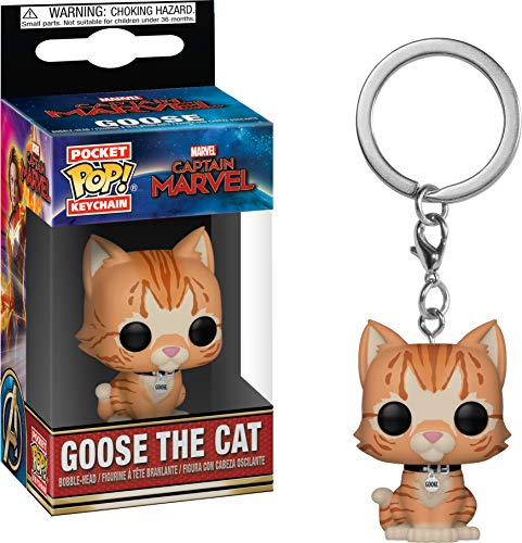 Funko- Pocket Keychain Captain Marvel: Pop 3 Llavero, Multicolor (36440)
