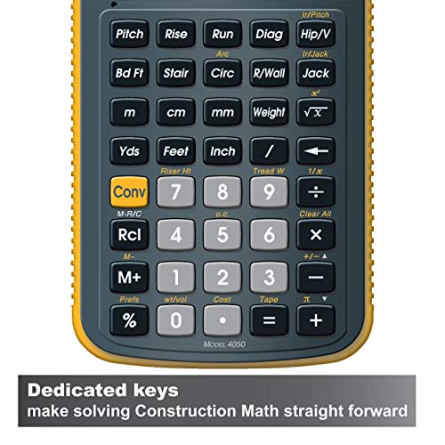 Calculated Industries 4050 Construction Master 5 Construction Metric and Imperial Calculator for Contractors, Estimators, Builders and Carpenters