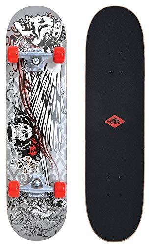 Schildkröt skateboard Kicker 31, compleet board met leuke functies voor beginners, verschillende dekendesigns selecteerbaar, concave dekken met dubbele kick, 9-laags esdoornhout, ABEC5-kogellagers