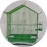 YCDJCS Vogelkäfig Startseite Eisen Kleine Taube Käfig Green Light Go Out Vogelkäfig Papageienzucht Terrarium Pet Supplies Käfige & Laufställe (Color : Green, Size : 28 * 21 * 38 cm)