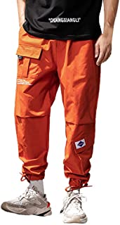 DONTAL Men Casual Hallen Loose Pure Color Outdoors Sports Overalls Long Pants Work Trousers