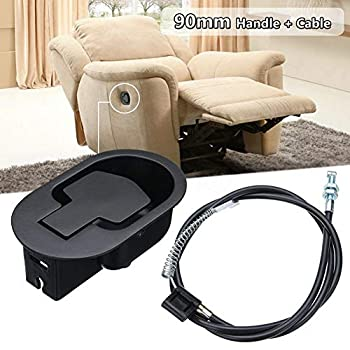 Banane Pièce de rechange universelle pour canapé, poignée de rechange avec câble de 90 cm, pour chaise de relaxation avec fauteuil, poignée de déverrouillage pour poignée de canapé pour chaise