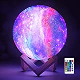 3D Galaxy Moon Lamp by NSL Lighting - Cool...