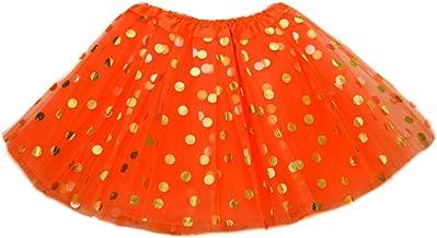 The Hair Bow Company Girl Gold Polka Dot Tulle Tutu Skirt 11