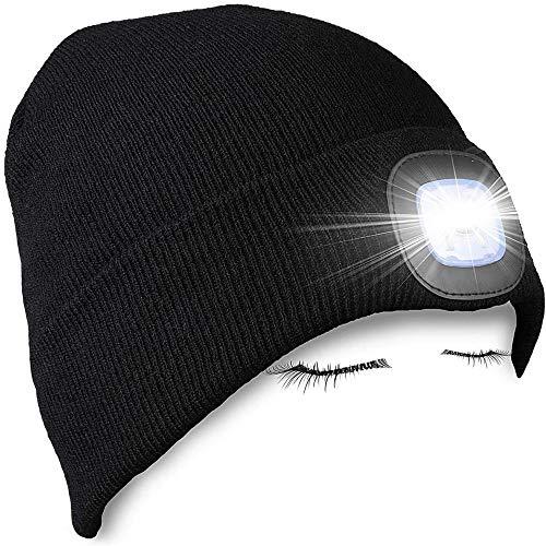 W·KING zaklamp, campingverlichting, zaklampen, hoed, gebreide muts geschikt voor camping, auto-reparatie, hardlopen, werk, maat