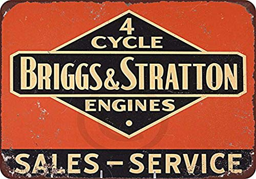Harvesthouse Briggs & Stratton 4 Cycle Vintage Look Reprodution Metal Sign 8x12 by Eeypy