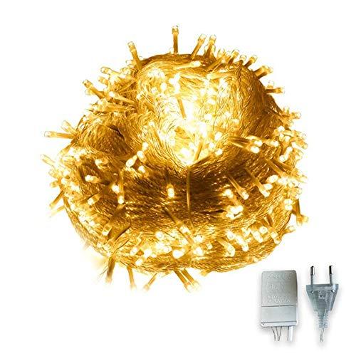 Zueyen Luces LED para jardín al aire libre, 20 m, 200 LED, 8 modos, cable de cobre con enchufe macho y hembra, iluminación de hadas para patio, valla de camping, fiesta exterior, decoración navideña